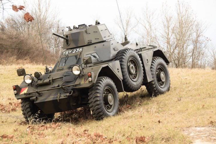 Daimler Ferret Scout Car 11 740x493 - Paintball Gun Equipped Daimler Ferret