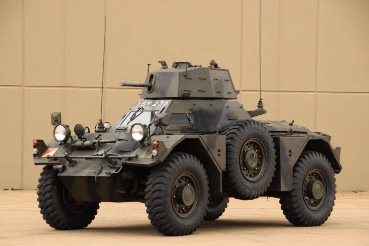Daimler Ferret Scout Car 16 740x493 - Paintball Gun Equipped Daimler Ferret