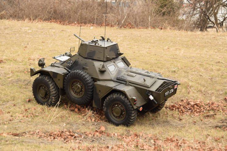 Daimler Ferret Scout Car 2 740x492 - Paintball Gun Equipped Daimler Ferret