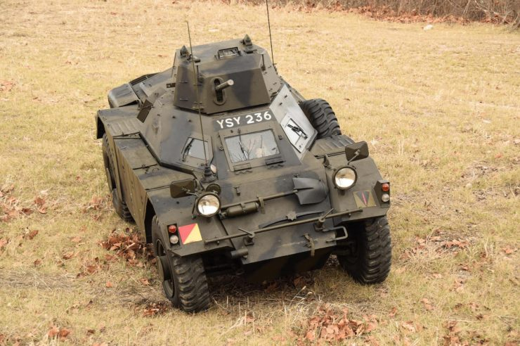 Daimler Ferret Scout Car 4 740x492 - Paintball Gun Equipped Daimler Ferret