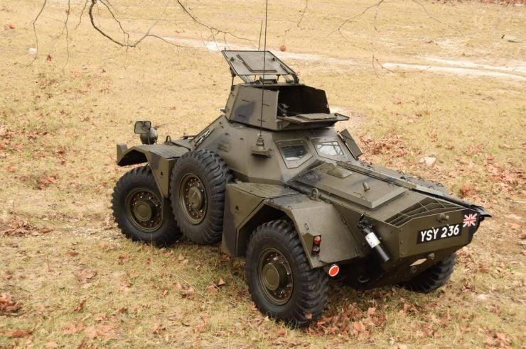 Daimler Ferret Scout Car 5 740x492 - Paintball Gun Equipped Daimler Ferret