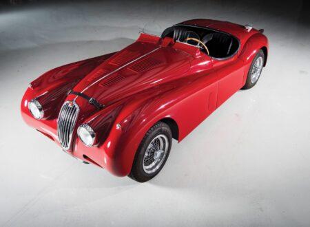 "Jaguar XK 140 1 450x330 - 1955 Jaguar XK140 SE ""Heuber Roadster"""