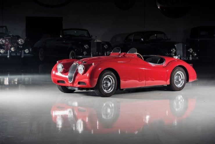 "Jaguar XK 140 19 740x494 - 1955 Jaguar XK140 SE ""Heuber Roadster"""