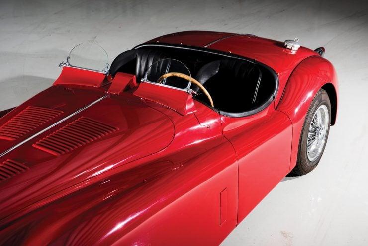 "Jaguar XK 140 7 740x494 - 1955 Jaguar XK140 SE ""Heuber Roadster"""