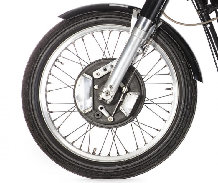 AJS 7R Motorcycle Front Brake 740x621 - AJS 7R - The Boy Racer