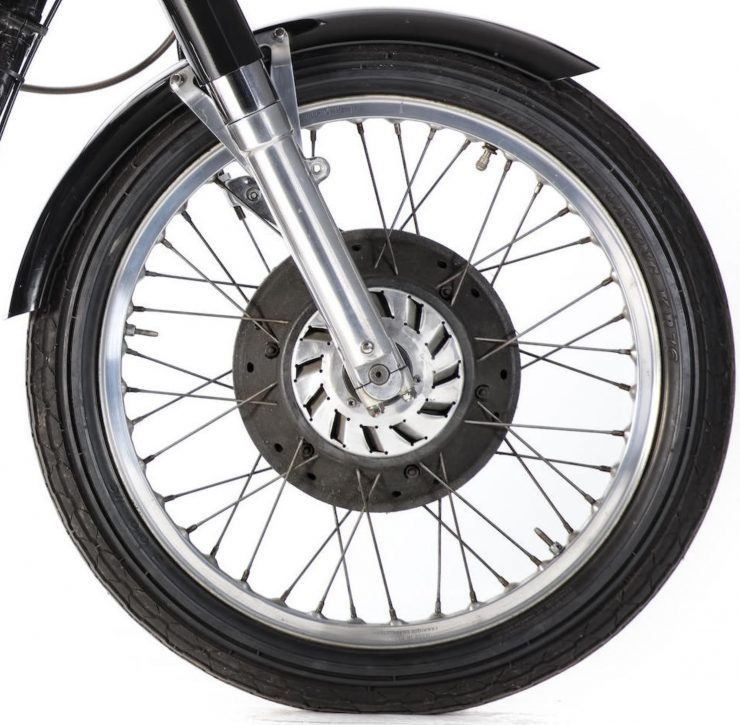 AJS 7R Motorcycle Front Wheel 740x725 - AJS 7R - The Boy Racer