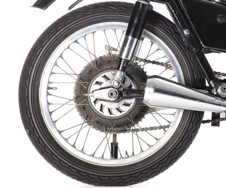AJS 7R Motorcycle Rear Wheel 740x615 - AJS 7R - The Boy Racer