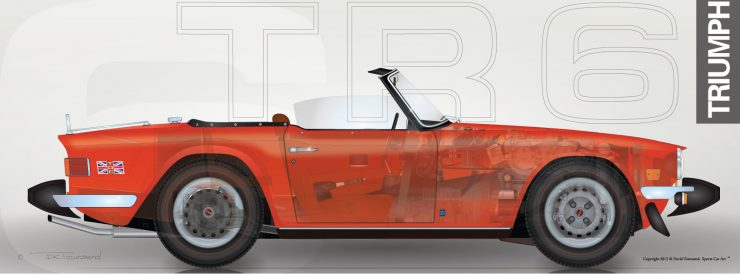 Buying Guide Triumph TR6 Cutaway 740x274 - The Essential Triumph TR6 Buying Guide