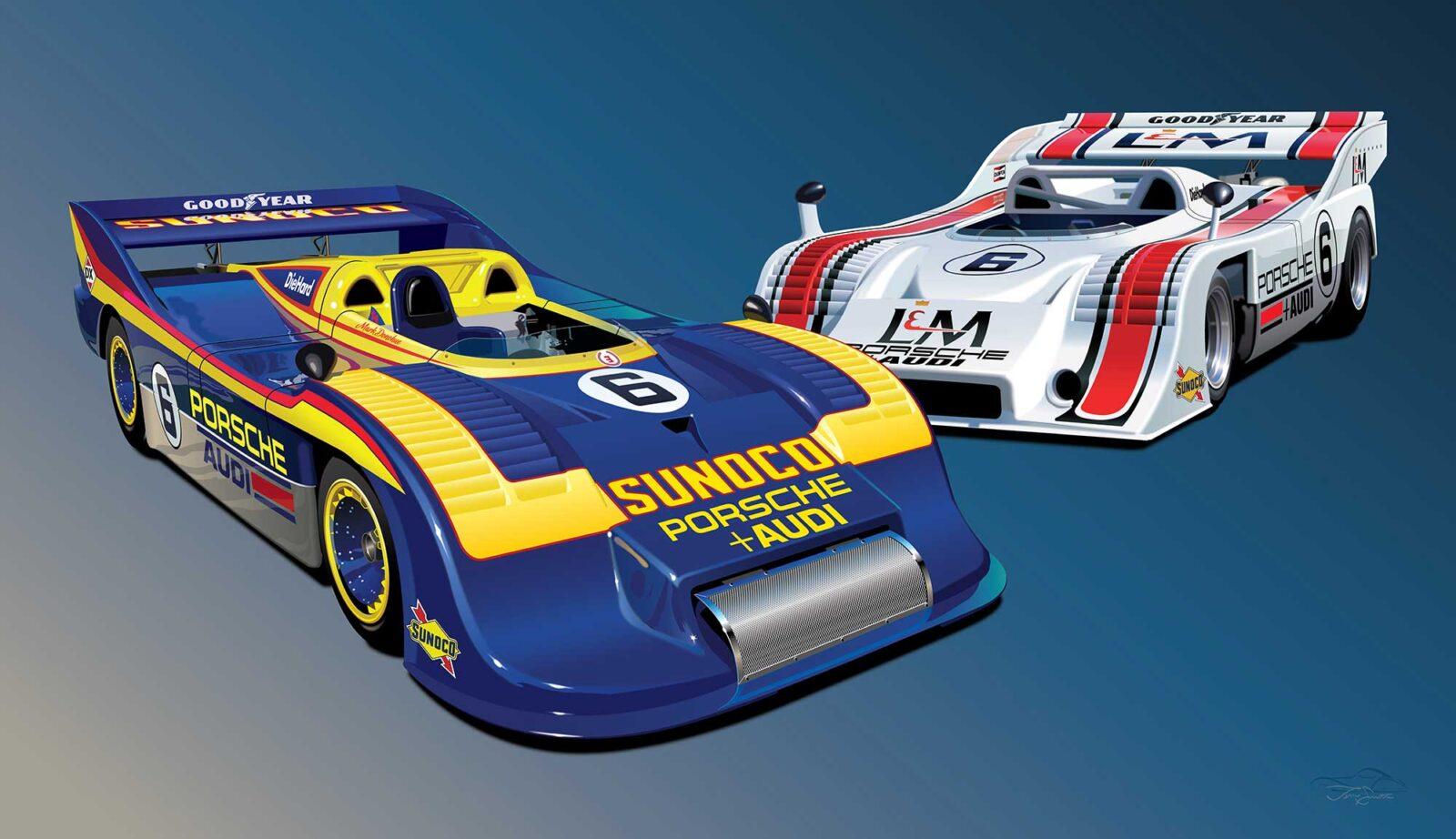 Can Am Porsche 91710 91730 Team Penske Print 1600x922 - Can-Am Porsche 917/10 & 917/30 Team Penske Print