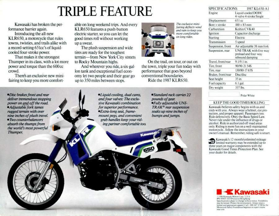 a brief history of the kawasaki klr650. Black Bedroom Furniture Sets. Home Design Ideas