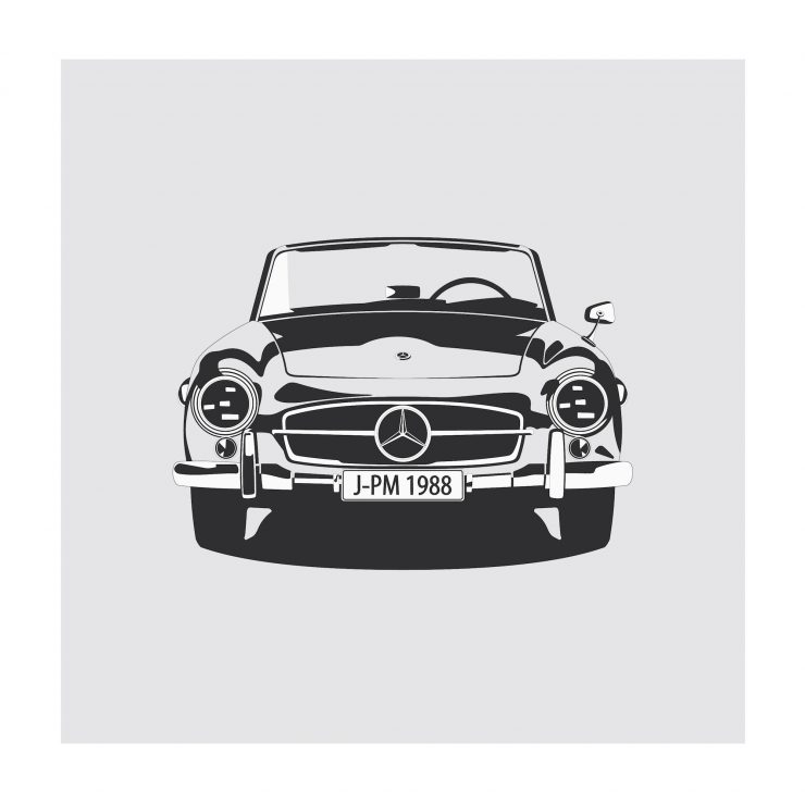 Mercedes SL 190 NoWM 740x740 - German Icons by Remove Before