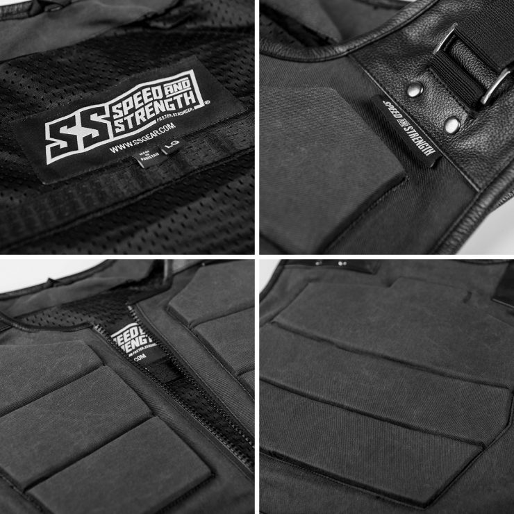Speed and Strength True Grit Armored Motorcycle Vest 4 740x740 - Speed and Strength True Grit Armored Motorcycle Vest
