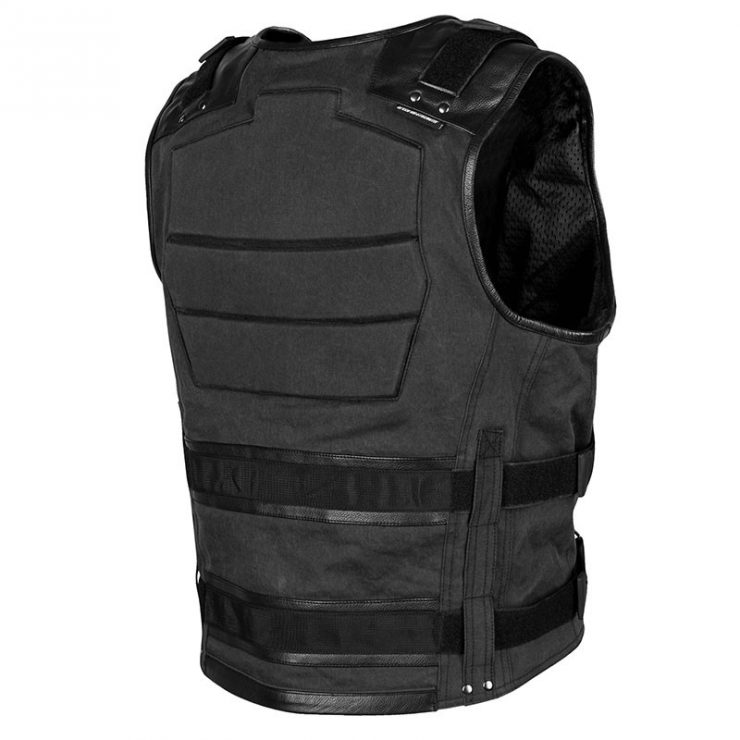 Speed and Strength True Grit Armored Motorcycle Vest Back 740x740 - Speed and Strength True Grit Armored Motorcycle Vest