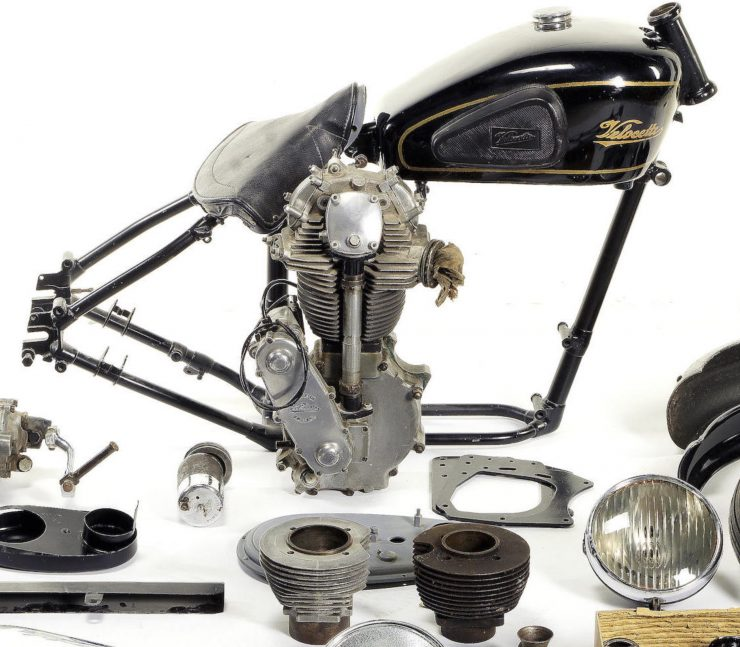 VELOCETTE 349CC KSS Parts 740x647 - Velocette KSS MkII Project Motorcycle