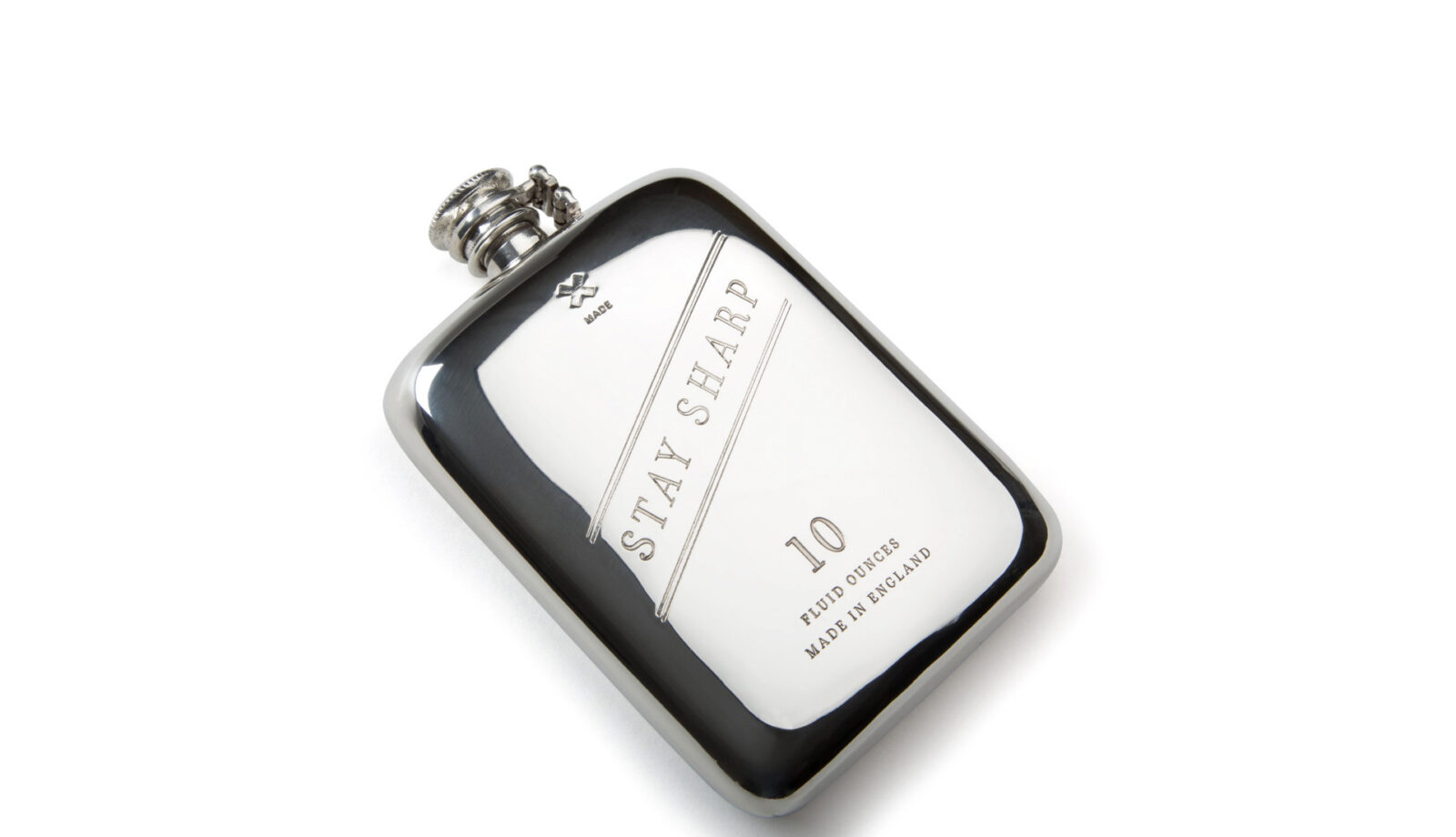 10 oz Stay Sharp Pewter Flask copy 1600x920 - 10 oz Stay Sharp Pewter Flask