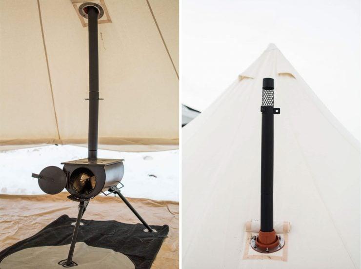 Bell Tent Fire Place 740x551 - Overland 5000 Stout Bell Tent