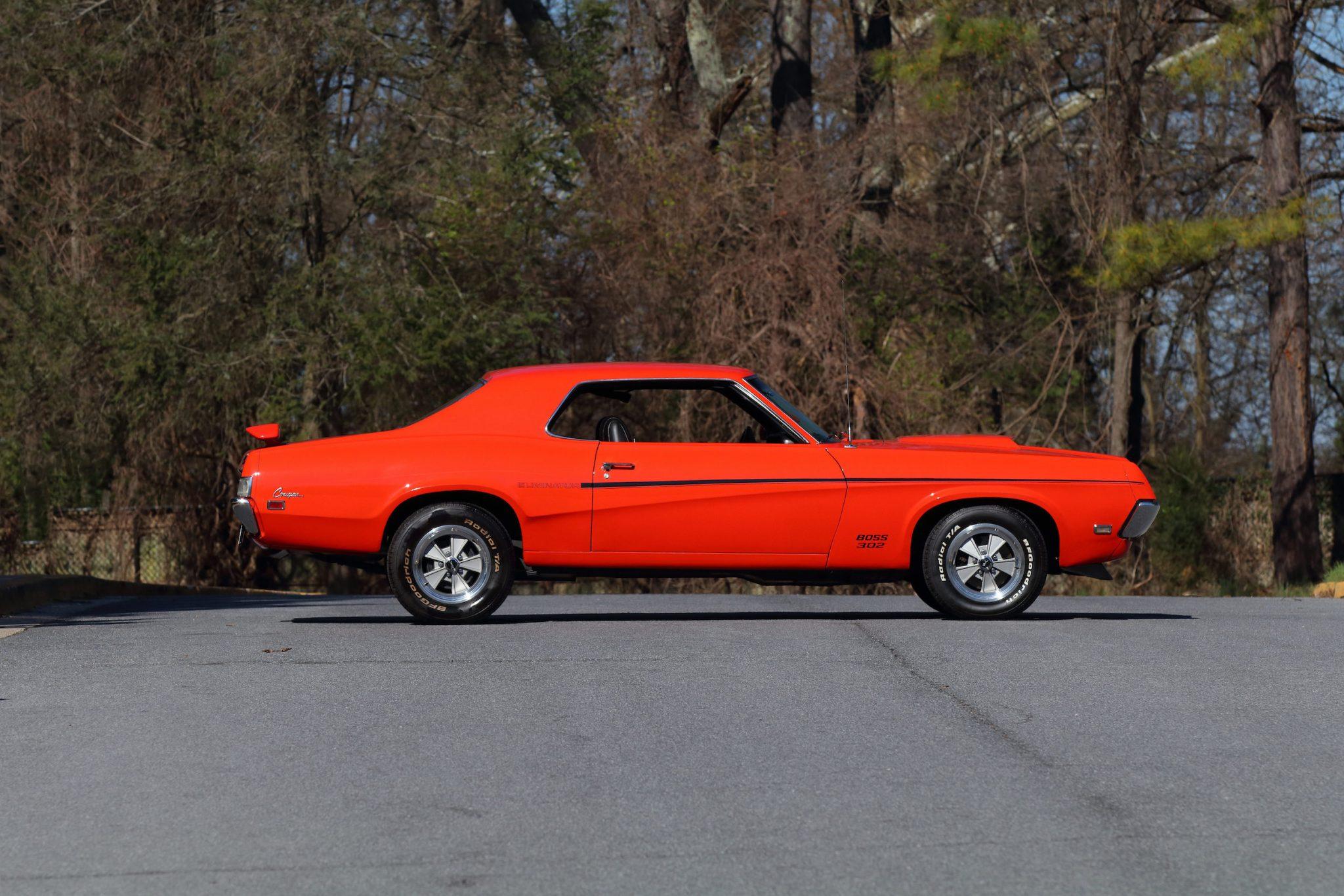 1969 mercury cougar boss 302photo credits dan duckworth, courtesy of mecum auctions