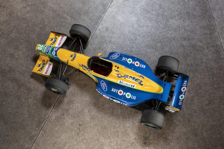 Michael Schumacher 1991 Benetton Formula 1 Car 1 740x493 - Ex-Michael Schumacher 1991 Benetton F1 Car