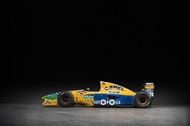 Michael Schumacher 1991 Benetton Formula 1 Car 19 740x493 - Ex-Michael Schumacher 1991 Benetton F1 Car