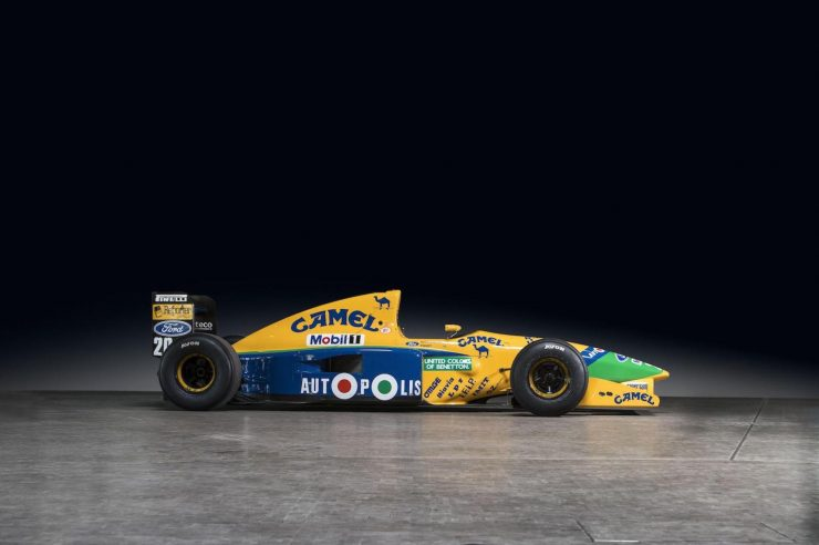 Michael Schumacher 1991 Benetton Formula 1 Car 21 740x492 - Ex-Michael Schumacher 1991 Benetton F1 Car