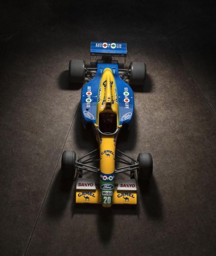Michael Schumacher 1991 Benetton Formula 1 Car 22 740x877 - Ex-Michael Schumacher 1991 Benetton F1 Car