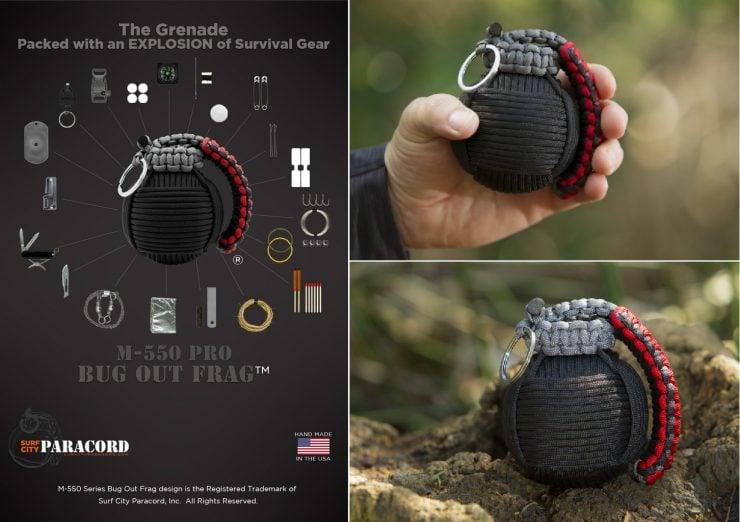 Survival Grenade 2 1 740x522 - Survival Grenade: M-550 Pro Paracord Bugout Frag™