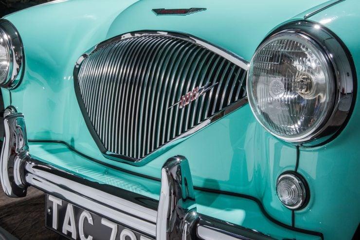 Austin Healey 1004 1 740x493 - The 1955 Earls Court Motor Show Car - Austin-Healey 100/4