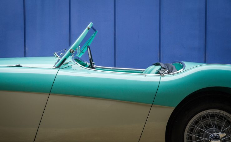Austin Healey 1004 14 740x454 - The 1955 Earls Court Motor Show Car - Austin-Healey 100/4