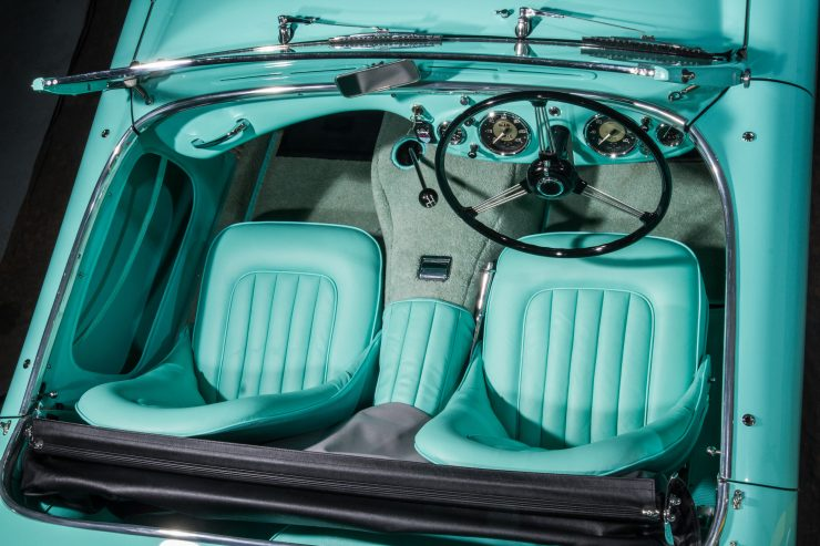 Austin Healey 1004 8 740x493 - The 1955 Earls Court Motor Show Car - Austin-Healey 100/4