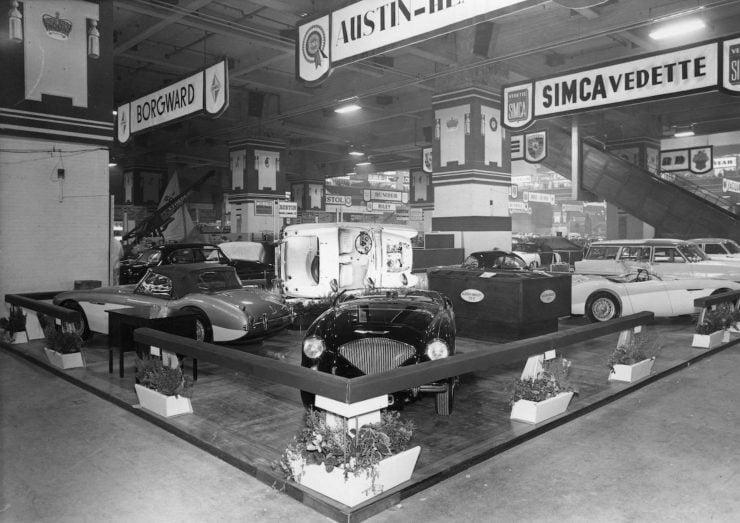 Austin Healey 1004 Motor Show 740x523 - The 1955 Earls Court Motor Show Car - Austin-Healey 100/4