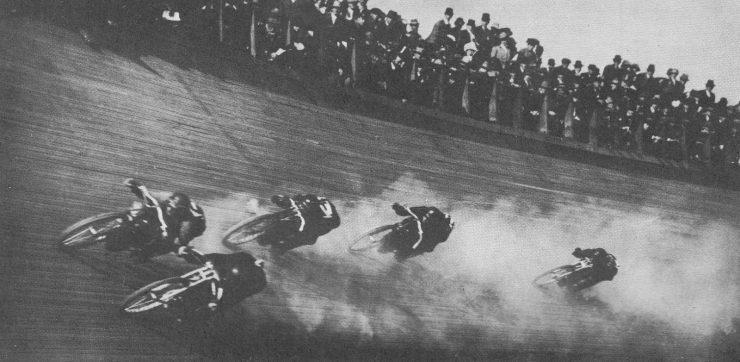 Board track racing motorcycle 740x362 - 1919 Indian Powerplus Board Track Racer