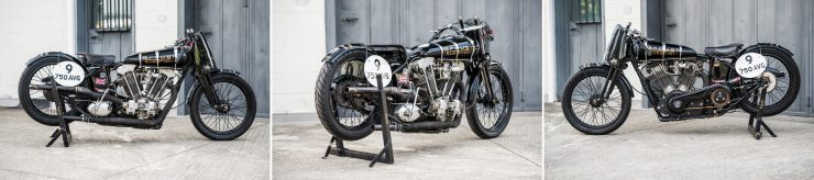 Brough Superior Montage 2 740x164 - The Five Brough Superiors of the Villa Erba Sale