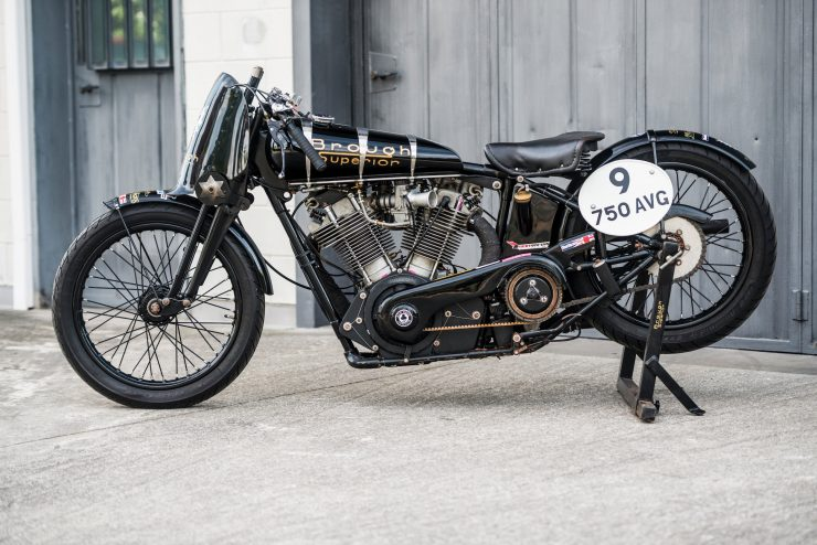 "Brough Superior SS100 1 740x494 - World Speed Record Holder:  Brough Superior ""Baby Pendine"""