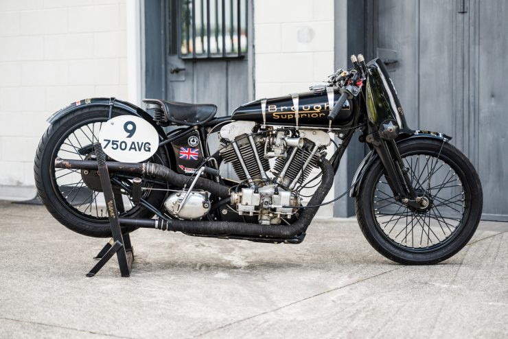 "Brough Superior SS100 14 740x494 - World Speed Record Holder:  Brough Superior ""Baby Pendine"""