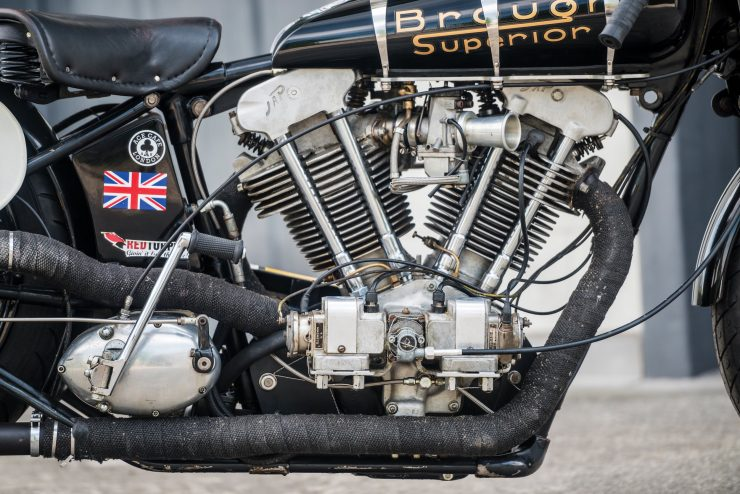 "Brough Superior SS100 16 740x494 - World Speed Record Holder:  Brough Superior ""Baby Pendine"""