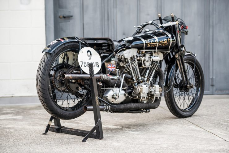 "Brough Superior SS100 17 740x494 - World Speed Record Holder:  Brough Superior ""Baby Pendine"""
