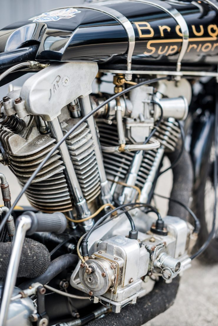 "Brough Superior SS100 4 740x1109 - World Speed Record Holder:  Brough Superior ""Baby Pendine"""