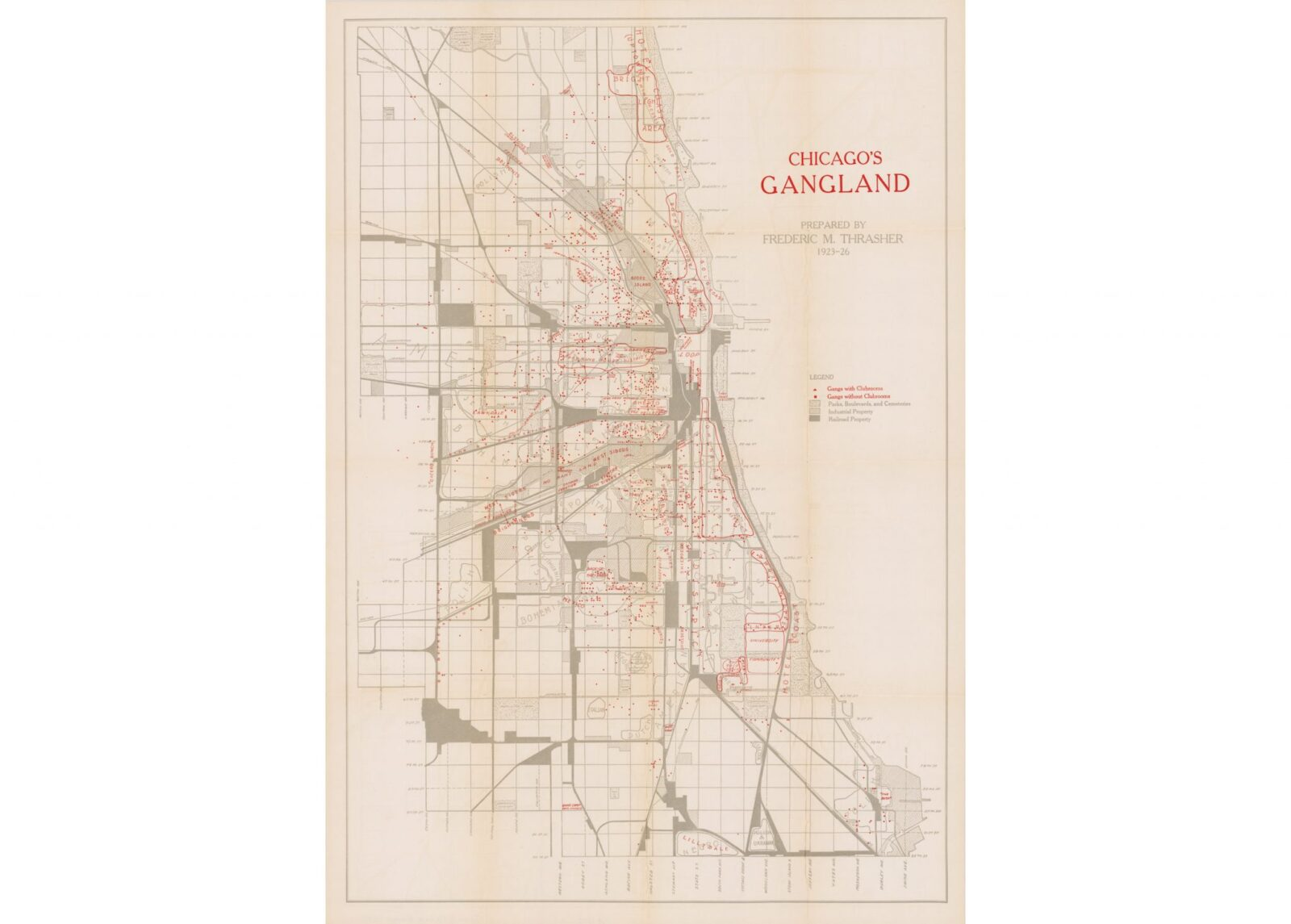 Chicago's Gangland Map Hero 1600x1145 - Chicago's Gangland Map - Circa 1927