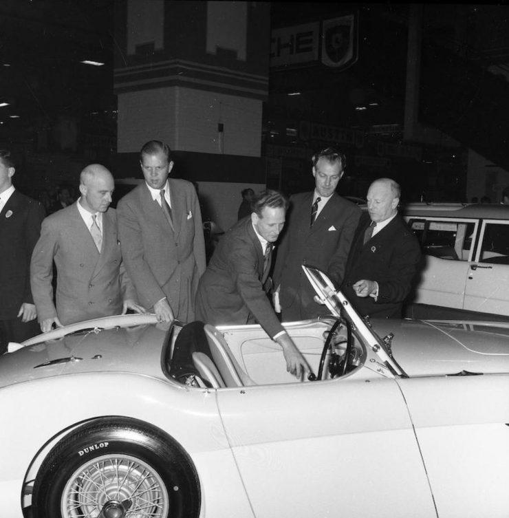 Donald Healey Austin Healey 1004 740x753 - The 1955 Earls Court Motor Show Car - Austin-Healey 100/4
