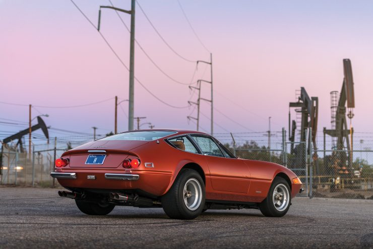 "Ferrari 365 GTB 4 Daytona 1 740x494 - 1971 Ferrari 365 GTB/4 Daytona ""Harrah Hot Rod"""