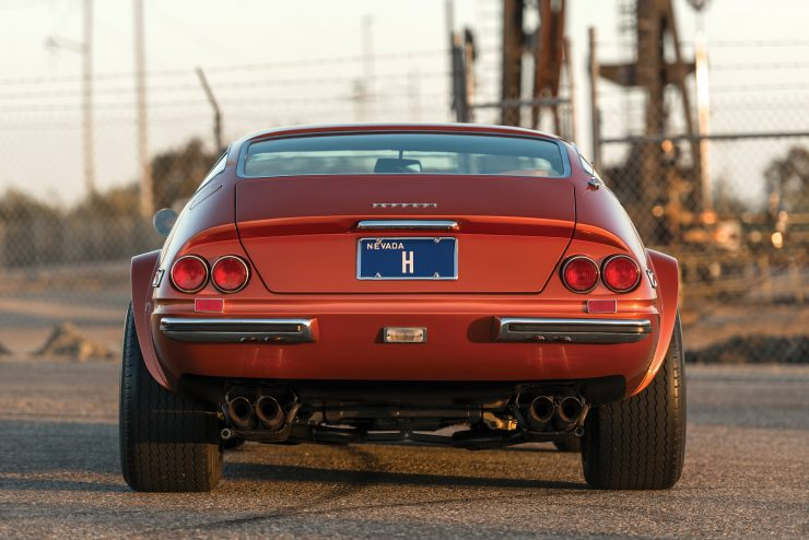 "Ferrari 365 GTB 4 Daytona Back 740x494 - 1971 Ferrari 365 GTB/4 Daytona ""Harrah Hot Rod"""