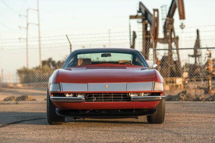 "Ferrari 365 GTB 4 Daytona Front 740x494 - 1971 Ferrari 365 GTB/4 Daytona ""Harrah Hot Rod"""