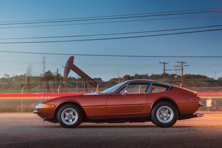 "Ferrari 365 GTB 4 Daytona Side 740x494 - 1971 Ferrari 365 GTB/4 Daytona ""Harrah Hot Rod"""