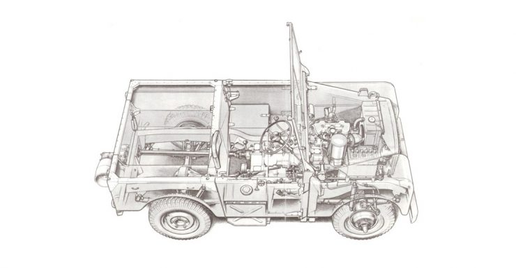 Land Rover Series I Cutaway