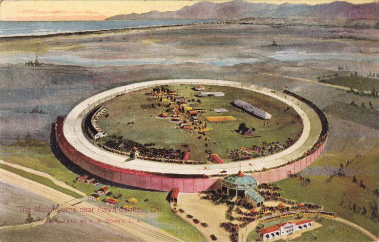 Los Angeles Board Track Motordrome 740x472 - 1919 Indian Powerplus Board Track Racer