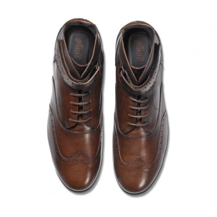 Piloti Campione Driving Boots 2 740x740 - Piloti Campione Driving Boots - Tan Leather