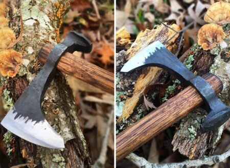 Railroad Spike Throwing Axe 3 450x330 - Railroad Spike Throwing Axe