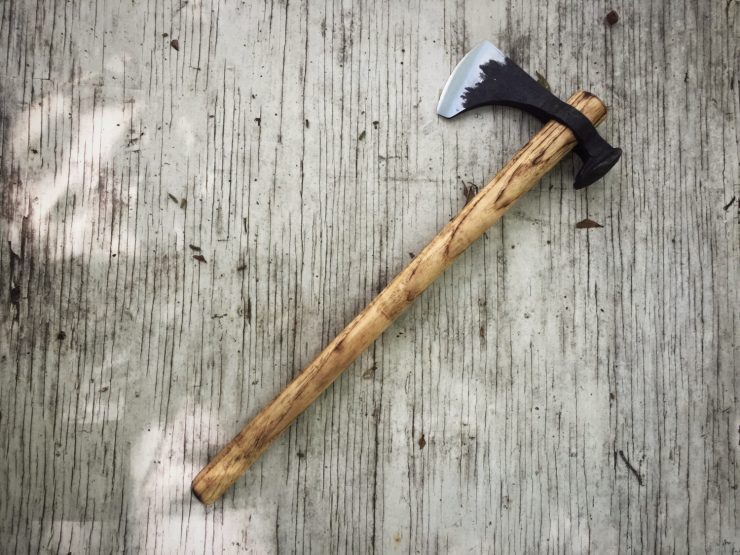 Railroad Spike Throwing Axe 740x555 - Railroad Spike Throwing Axe