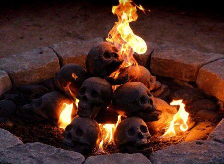 Skull Fire Logs 450x330