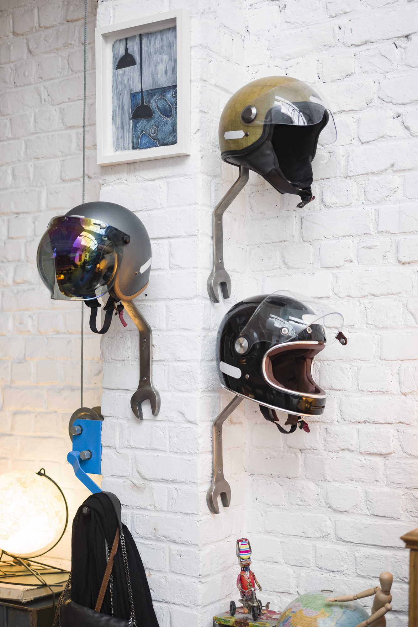 Wrench Helmet Rack